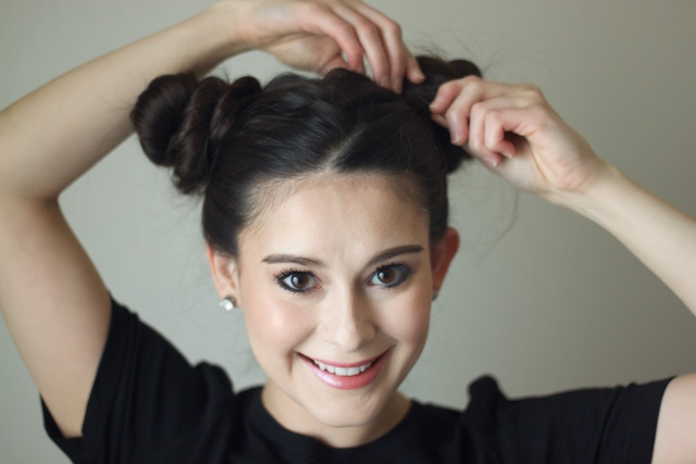 Space Buns Hair Tutorial